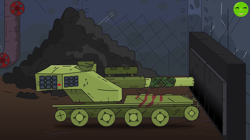 The armored train punches the way - Cartoons about tanks