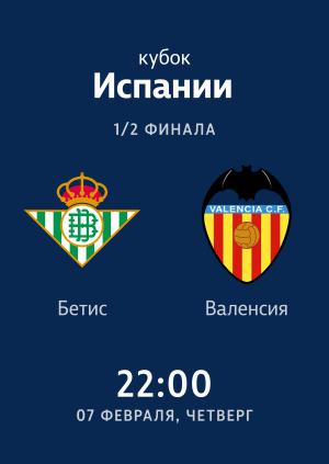 1/2 Кубка Испании: Бетис — Валенсия 2:2. Обзор матча